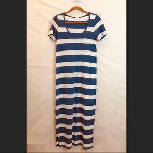 J.Crew Factory Long Striped Maxi Dress Size 8